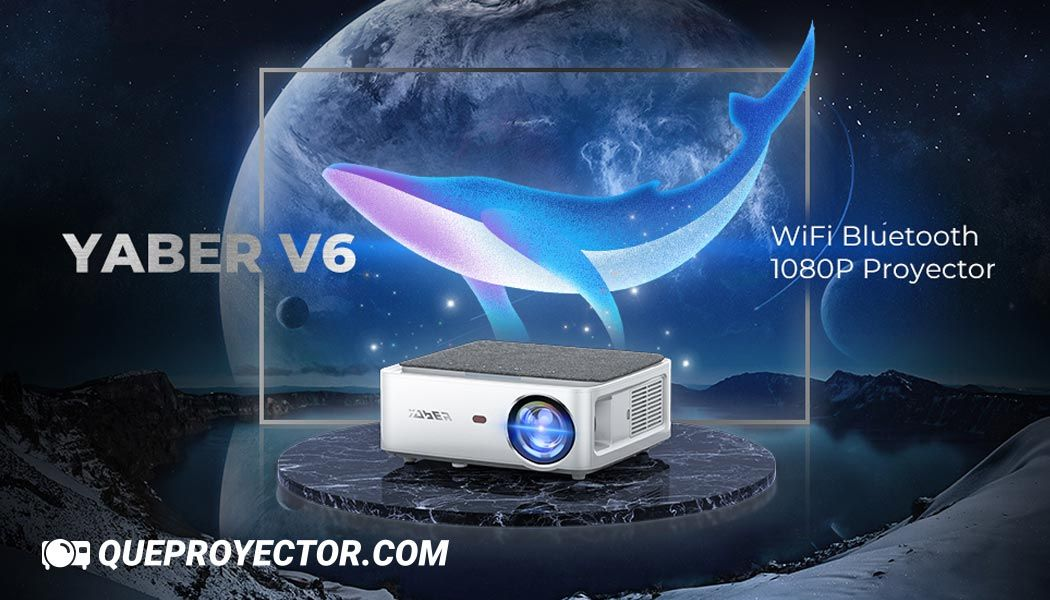 Proyector WiFi Bluetooth 1080P, YABER V6
