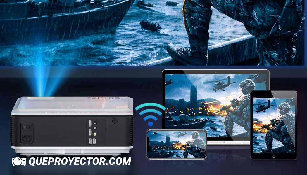 Proyector WiFi Bluetooth Full HD 1080P, TOPTRO TR82