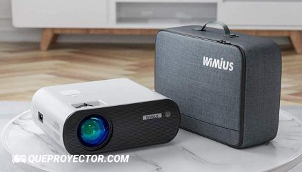 WiMiUS K5 Opiniones » Proyector WiFi Bluetooth, 6000 Lúmenes WiMiUS Proyector Portátil WiFi Bluetooth Full HD